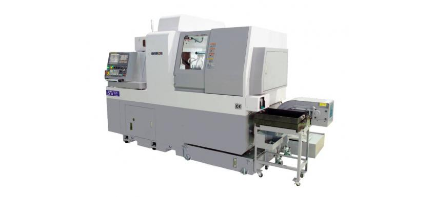 Swiss Type CNC Lathe\ Swiss Turn Gang Type CNC\ CNC swiss Turning Center \  CNC Lathe \ 8 Axes\ Double Y axes
